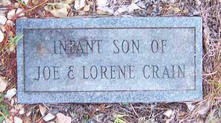 CRAIN, INFANT SON - Nevada County, Arkansas | INFANT SON CRAIN - Arkansas Gravestone Photos