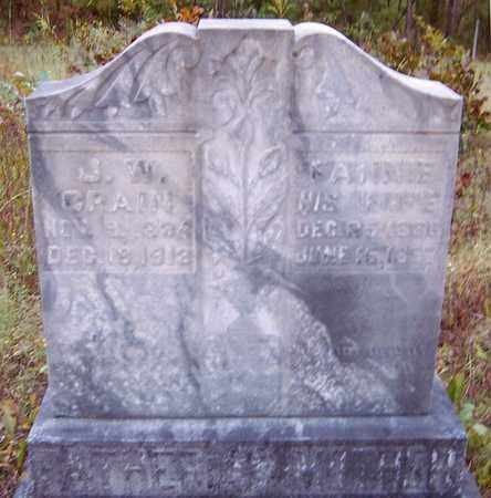 CRAIN, J W - Nevada County, Arkansas | J W CRAIN - Arkansas Gravestone Photos