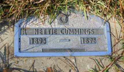 CUMMINGS, NETTIE - Nevada County, Arkansas   NETTIE CUMMINGS - Arkansas Gravestone Photos