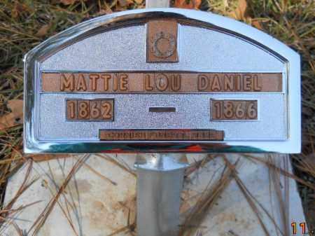 DANIEL, MATTIE LOU - Nevada County, Arkansas | MATTIE LOU DANIEL - Arkansas Gravestone Photos