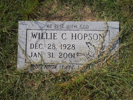 HOPSON, WILLIE C - Nevada County, Arkansas   WILLIE C HOPSON - Arkansas Gravestone Photos