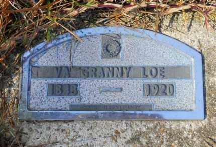 "LOE, V A ""GRANNY"" - Nevada County, Arkansas 
