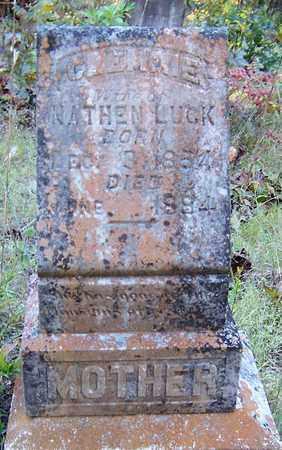 LUCK, CLEMMIE - Nevada County, Arkansas   CLEMMIE LUCK - Arkansas Gravestone Photos