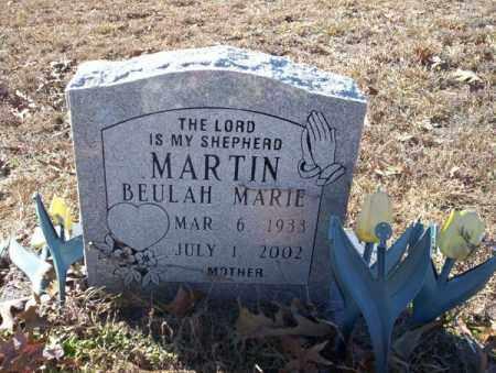 MARTIN, BEULAH MARIE - Nevada County, Arkansas | BEULAH MARIE MARTIN - Arkansas Gravestone Photos