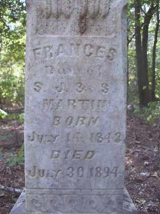 MARTIN, FRANCES - Nevada County, Arkansas | FRANCES MARTIN - Arkansas Gravestone Photos