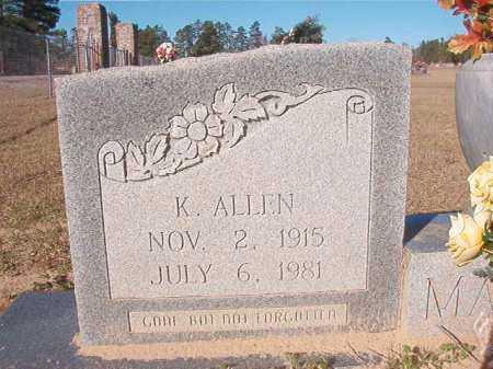 MARTIN, K ALLEN - Nevada County, Arkansas | K ALLEN MARTIN - Arkansas Gravestone Photos
