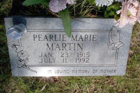 MARTIN, PEARLIE MARIE - Nevada County, Arkansas   PEARLIE MARIE MARTIN - Arkansas Gravestone Photos