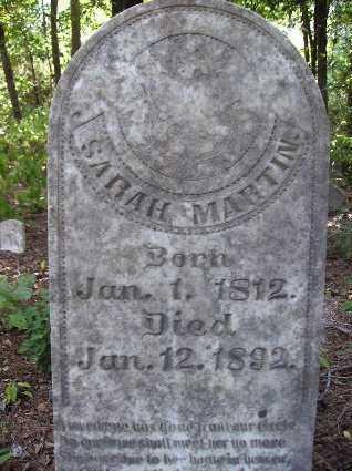 MARTIN, SARAH - Nevada County, Arkansas | SARAH MARTIN - Arkansas Gravestone Photos