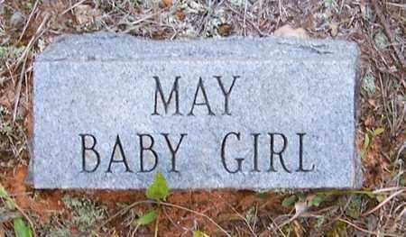 MAY, BABY GIRL - Nevada County, Arkansas   BABY GIRL MAY - Arkansas Gravestone Photos