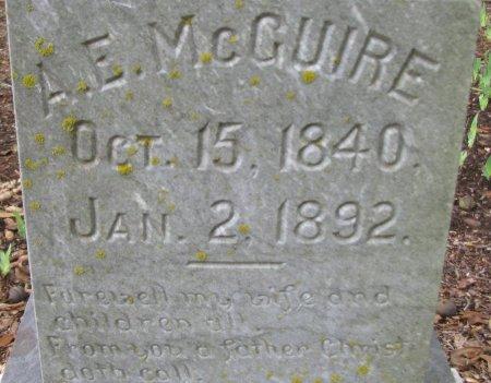 MCGUIRE, A E (CLOSEUP) - Nevada County, Arkansas | A E (CLOSEUP) MCGUIRE - Arkansas Gravestone Photos
