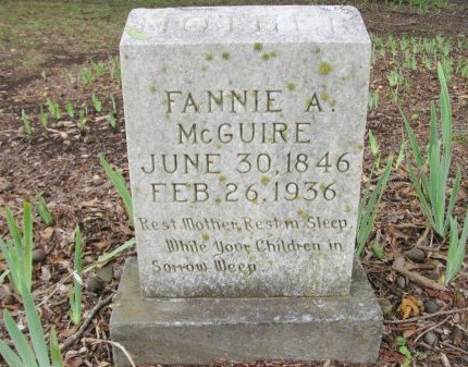 BILLINGSLEY MCGUIRE, FANNIE A - Nevada County, Arkansas | FANNIE A BILLINGSLEY MCGUIRE - Arkansas Gravestone Photos
