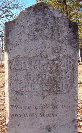 MEADOR, A G - Nevada County, Arkansas | A G MEADOR - Arkansas Gravestone Photos
