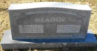 MEADOR, CHARLEY Y - Nevada County, Arkansas | CHARLEY Y MEADOR - Arkansas Gravestone Photos