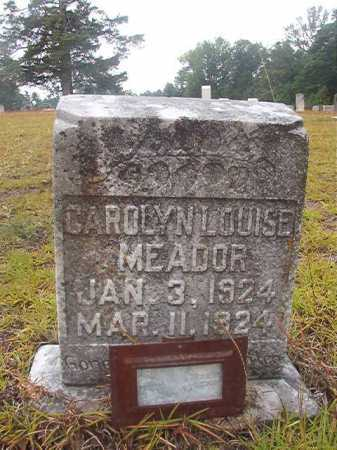 MEADOR, CAROLYN LOUISE - Nevada County, Arkansas | CAROLYN LOUISE MEADOR - Arkansas Gravestone Photos
