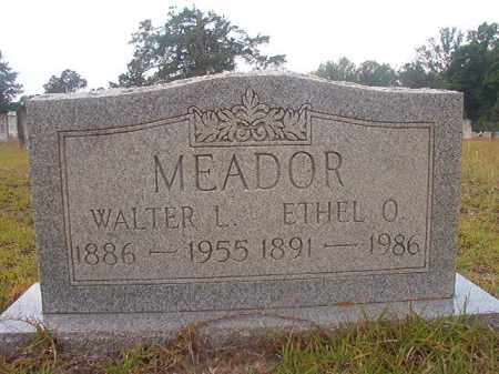 MEADOR, WALTER L - Nevada County, Arkansas | WALTER L MEADOR - Arkansas Gravestone Photos