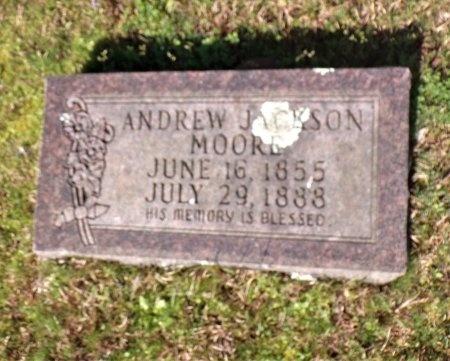 MOORE, ANDREW JACKSON - Nevada County, Arkansas | ANDREW JACKSON MOORE - Arkansas Gravestone Photos