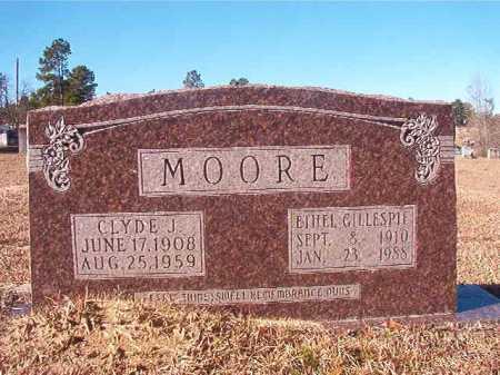 MOORE, CLYDE J - Nevada County, Arkansas | CLYDE J MOORE - Arkansas Gravestone Photos