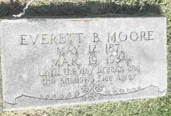 MOORE, EVERETT B - Nevada County, Arkansas   EVERETT B MOORE - Arkansas Gravestone Photos