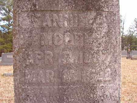 MOORE, FANNIE  (CLOSE-UP) - Nevada County, Arkansas | FANNIE  (CLOSE-UP) MOORE - Arkansas Gravestone Photos