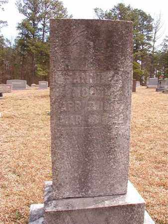 MOORE, FANNIE C. - Nevada County, Arkansas   FANNIE C. MOORE - Arkansas Gravestone Photos