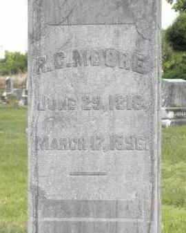 MOORE, R  C - Nevada County, Arkansas   R  C MOORE - Arkansas Gravestone Photos