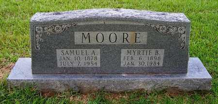 MOORE, MYRTIE B - Nevada County, Arkansas   MYRTIE B MOORE - Arkansas Gravestone Photos
