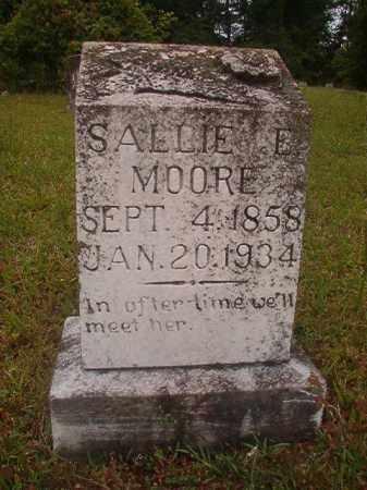 MOORE, SALLIE E - Nevada County, Arkansas   SALLIE E MOORE - Arkansas Gravestone Photos