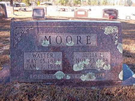 MOORE, WALTER - Nevada County, Arkansas | WALTER MOORE - Arkansas Gravestone Photos
