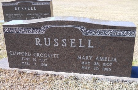BROWN RUSSELL, MARY AMELIA - Nevada County, Arkansas | MARY AMELIA BROWN RUSSELL - Arkansas Gravestone Photos