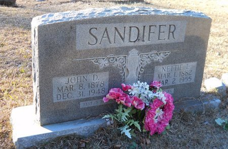 MCADAMS SANDIFER, NETTIE L - Nevada County, Arkansas | NETTIE L MCADAMS SANDIFER - Arkansas Gravestone Photos