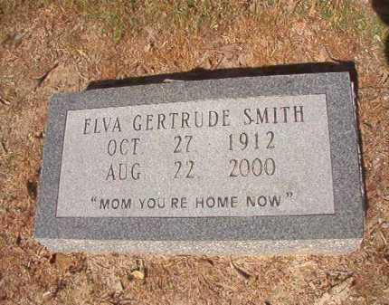 SMITH, ELVA GERTRUDE - Nevada County, Arkansas | ELVA GERTRUDE SMITH - Arkansas Gravestone Photos