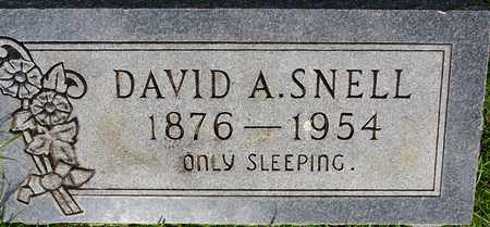 SNELL, DAVID A - Nevada County, Arkansas   DAVID A SNELL - Arkansas Gravestone Photos