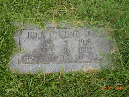 SNELL, JOHN EDMUND - Nevada County, Arkansas | JOHN EDMUND SNELL - Arkansas Gravestone Photos
