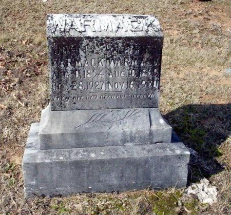 WARMACK, LETTIE - Nevada County, Arkansas | LETTIE WARMACK - Arkansas Gravestone Photos