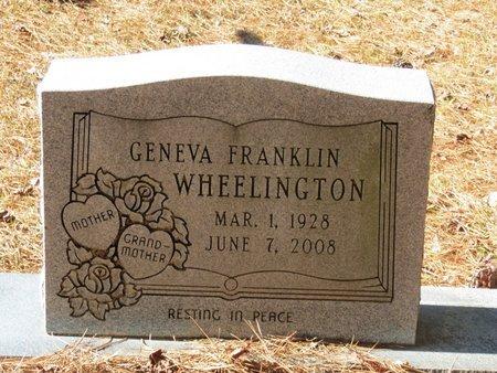 WHEELINGTON, GENEVA - Nevada County, Arkansas | GENEVA WHEELINGTON - Arkansas Gravestone Photos