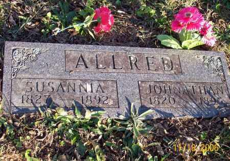 ALLRED, SUSANNA - Newton County, Arkansas   SUSANNA ALLRED - Arkansas Gravestone Photos