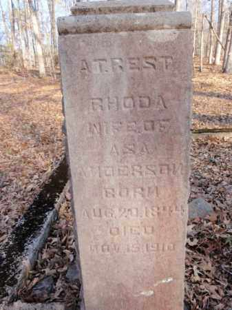 DAILY ANDERSON, RHODA - Newton County, Arkansas | RHODA DAILY ANDERSON - Arkansas Gravestone Photos