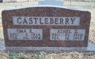 CASTLEBERRY, OMA E - Newton County, Arkansas   OMA E CASTLEBERRY - Arkansas Gravestone Photos
