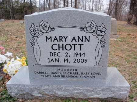 CHOTT, MARY ANN - Newton County, Arkansas   MARY ANN CHOTT - Arkansas Gravestone Photos