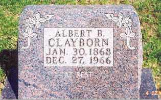 CLAYBORN, ALBERT B - Newton County, Arkansas | ALBERT B CLAYBORN - Arkansas Gravestone Photos