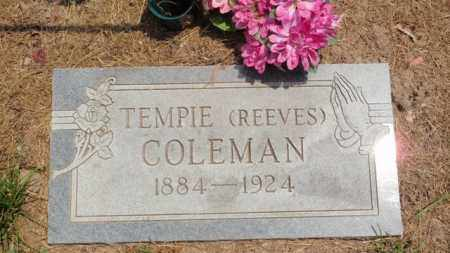 REEVES COLEMAN, TEMPIE - Newton County, Arkansas | TEMPIE REEVES COLEMAN - Arkansas Gravestone Photos