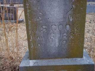 COOK, J  S - Newton County, Arkansas | J  S COOK - Arkansas Gravestone Photos