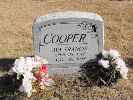 COOPER, AVA FRANCIS - Newton County, Arkansas | AVA FRANCIS COOPER - Arkansas Gravestone Photos