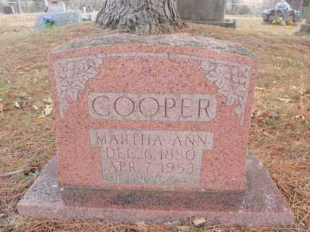 COOPER, MARTHA ANN - Newton County, Arkansas | MARTHA ANN COOPER - Arkansas Gravestone Photos