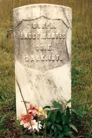 CURTIS  (VETERAN UNION), AMOS - Newton County, Arkansas   AMOS CURTIS  (VETERAN UNION) - Arkansas Gravestone Photos