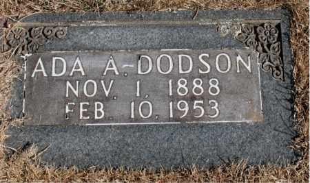 DODSON, ADA  A. - Newton County, Arkansas   ADA  A. DODSON - Arkansas Gravestone Photos
