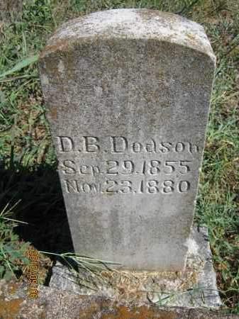 DODSON, DAVID B. - Newton County, Arkansas | DAVID B. DODSON - Arkansas Gravestone Photos