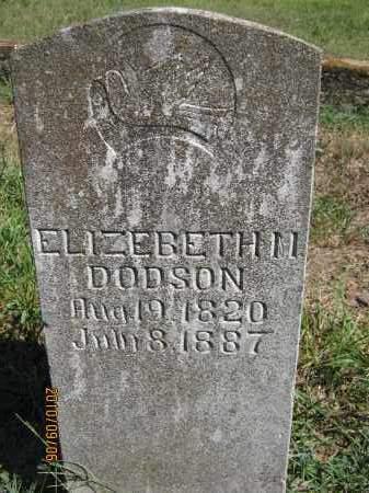 DODSON, ELIZABETH  M - Newton County, Arkansas | ELIZABETH  M DODSON - Arkansas Gravestone Photos