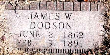 DODSON, JAMES W. - Newton County, Arkansas   JAMES W. DODSON - Arkansas Gravestone Photos