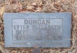 DUNCAN, ETTER ELIZABETH - Newton County, Arkansas | ETTER ELIZABETH DUNCAN - Arkansas Gravestone Photos